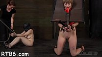 Restrained gal is hoisted up for her hot torture - Download mp4 XXX porn videos