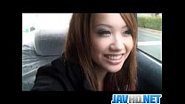 Amazing solo play along young Asian babe Luna