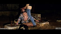 Face fucking and ass eating for tied-up submiss...