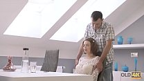 OLD4K. Passionate sex with an old man