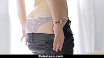 RubATeen - Rubbing And Drilling Avery's Tight Pussy