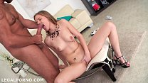 First Anal Sex Ever. Sara Kay gets fucked by a monsted cock ball deep in the ass. Gapes & swallo Image