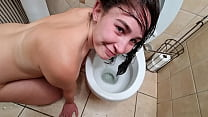 Dirty Whore Pisses And Licks The Inner Part Of