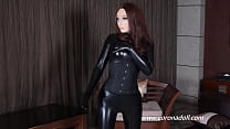 Catsuit latex fetish clothing latex rubber