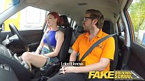 Fake Driving School Instructor fucks and creampies sexually frustrated redhead Image