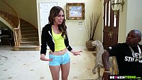 BrokenTeens - Petite Teen Destroyed By Two Mons... Thumbnail