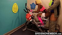 Buttfucked During Training Session With Dad Friend, Turned Into Anal Sex On A Workout Bike, Fit Ebony Babe Msnovember Hardcore Analsex On Workout Bike In Public On Sheisnovember thumbnail