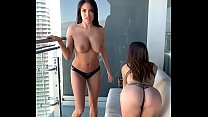 Anissa Kate & Clea Gaultier, naughty lesbians on a hotel balcony - MySexMobile's Thumb