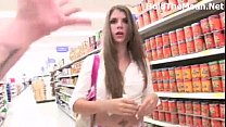 hot babe JC Flashes in supermarket