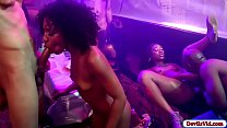 4 Black chicks suck and fuck in the bar