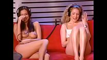 Shy 22 year old Valentina Vaughan rides Sybian Howard Stern