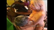 19749 Hot old cougar with old guy sucks his cock and gets her pussy fucked preview