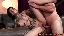 Gothic whore gets pounded