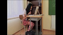 Hot Schoolgirl Spanked By Her Dirty Teacher!