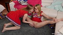 Cheer Squad Members Initiating The Newbie Blonde - Dolly Leigh, Katie Kush صورة