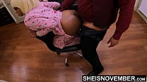 HD Msnovember Big Ebony Titties Hang Over Chair Getting Fucked Doggystyle In Hello Kitty Pajamas Take Rough Hardcore StepDaughter Sex From Big Cock StepDad on Sheisnovember