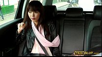 Asian Marica sucks cock and drilled with pervert driver