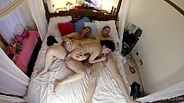 Big tits and big ass latina slut in a hot wild threesome with Kemaco Boys