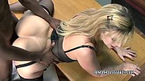 Mature slut Sara Jay is in her office and getti...