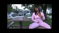 Sexy In Pink Outdoors Masturbation : Nilou Achtland