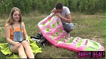 Innocent teen Alessandra makes love with big co... thumb