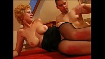 Blond whore in stockings doing ass to mouth Thumbnail