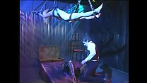 Innocent blonde gal Missy Monroe was hanged as youthful carcass by her beloved man while he was digging a ditch with strange girl it latex outfit