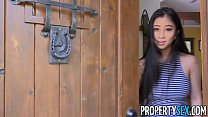PropertySex - Real estate agent with big natural tits fucks client video