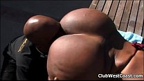 Horny ebony whore goes crazy sucking