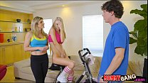 MILF and stepson 3way with cute neighbor