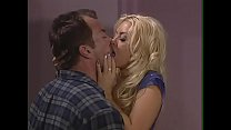 Blonde heiress Brittney Skye makes police detective to pole her in the chinch-pad