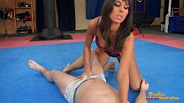 Melanie Memphis chases guy around tatami to ballbust him Vorschaubild