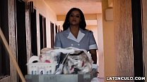 Booty latina maid spying on a big cocked guest! # Mary Jean thumbnail