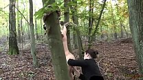 Kitty likes Mistress's game - Outdoor Strap-on Fuck with Miss Flora