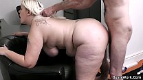 Screenshot Working Blonde Woman Takes Bass Cock From Behind