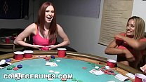 COLLEGE RULES - Young Teens Students Playing Strip Poker, Things Get Crazy!