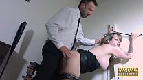 Submissive English slut dommed and fed with masters cum thumbnail