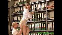 Anja in the office cool by fucked