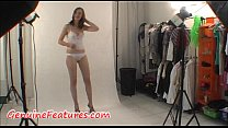 Real backstage with sexy czech teen preview image