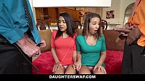 DaughterSwap - Hot Blonde Daughter Blindfolded ...