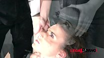 Subby Anita Bellini DP'ed to the extreme by cock & Jemma Valentine's strap-on GP399