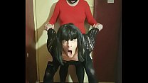crossdressing sissy fucked by his masked girlfr... />                             <span class=
