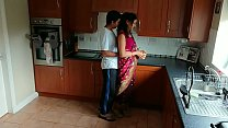Red saree Bhabhi caught watching porn seduced and fucked by Devar dirty hin