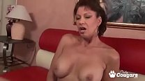 pussy her with playing videl vanessa milf Busty