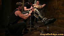 Edging sub sucked while shoe hangs from balls preview image