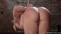 Busty blondes anal fuck in dungeon