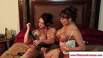 Brandi Mae and Ava Devine play with toys thumbnail