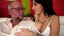 Sandra Luberc takes a veteran cock video