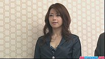 Hojo toying her pussy during an office meeting [스타킹 stockings]