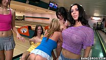 Rachel Starr and Sluts at bowling alley Thumbnail